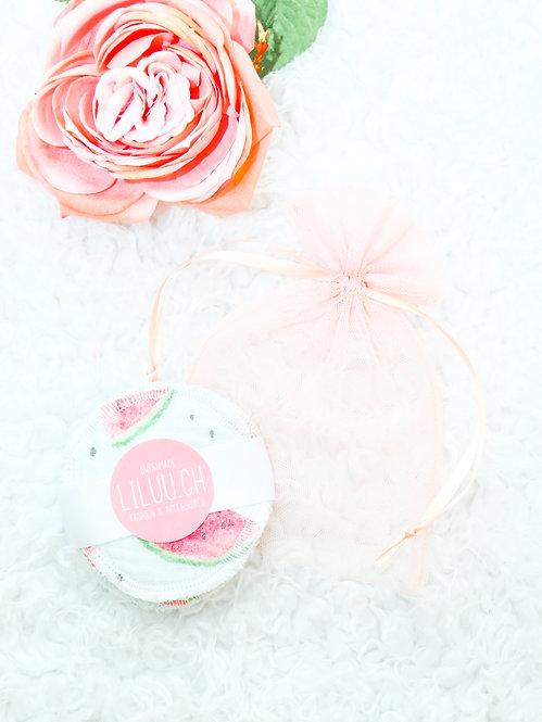 Kosmetik Pads Musselin-Frottee mit Wäschebeutel