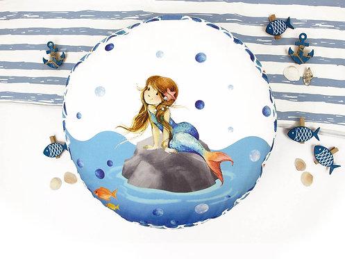 SIY Sitzkissen Meerjungfraumädchen
