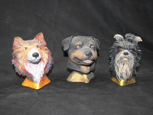 Asst. breed dog busts
