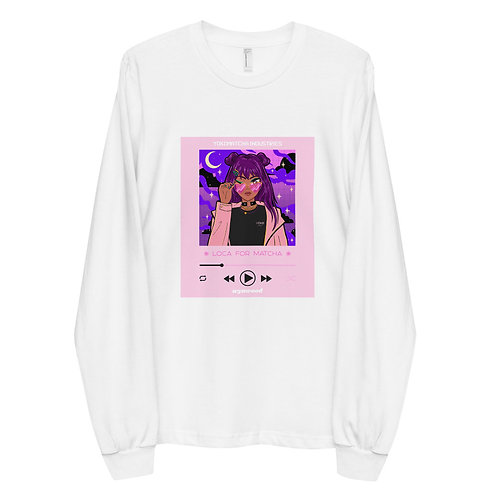 Loca For Matcha Long Sleeve Pink T-shirt