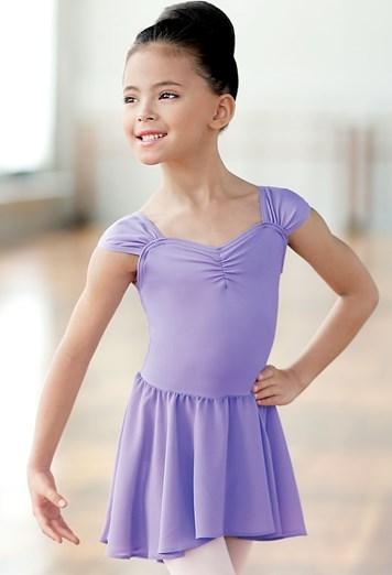 Lavender Attached Skirt Leotard