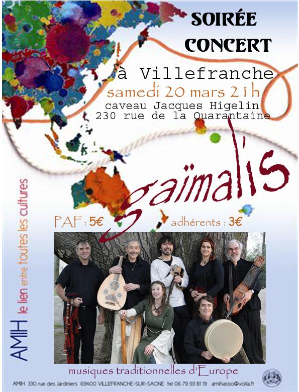 Concert pour l'AMIH-Villefranche s/S