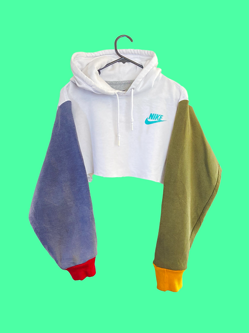 (S) Vintage custom NIKE crop Sweatshirt