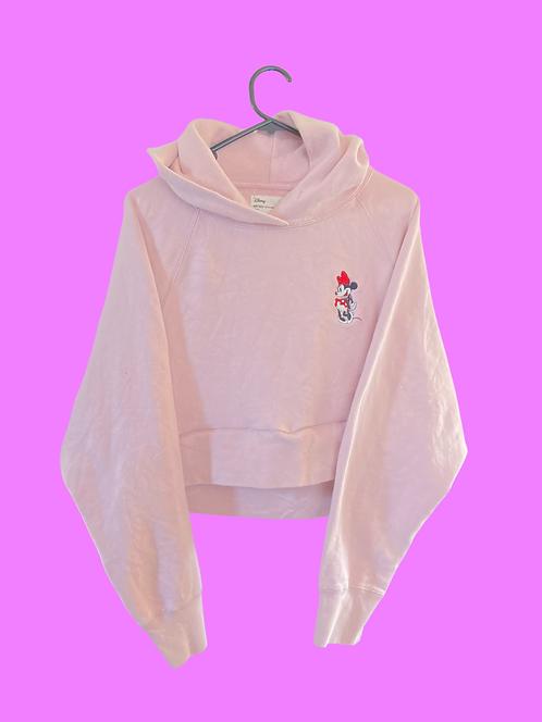 (S) Vintage Minnie crop Sweatshirt