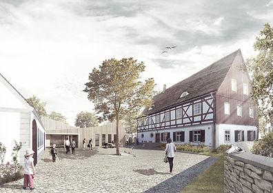 architekt skp knoll dresden gordon Gemeindezentrum Hirschfeld