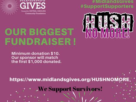 Help Us HUSH No More during Midland Gives-May 4, 2021