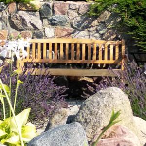 ogród z lawendowiskiem