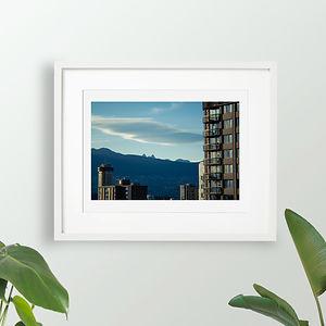 Photography Fine Art Print Blue City Mountain Landscape Wall Decor