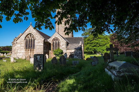 St Pancras Church, Widecombe in the Moor photo and fine art print