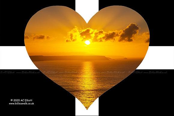 North Coast sunset heart
