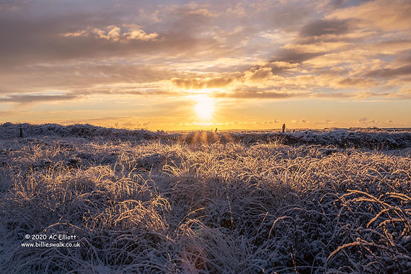 A beautiful snowy sunrise photo and fine art print