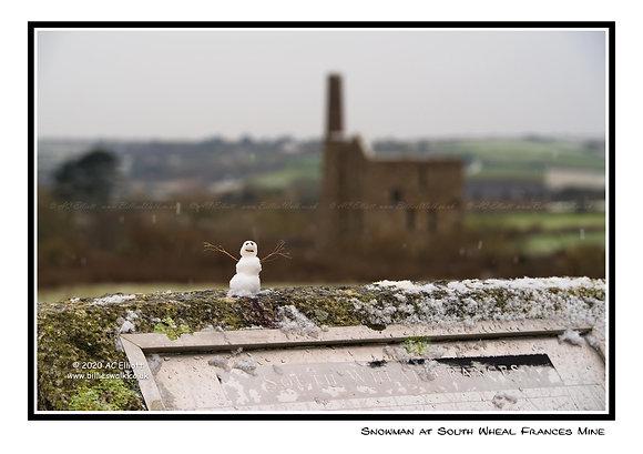 Snowman at South Wheal Frances