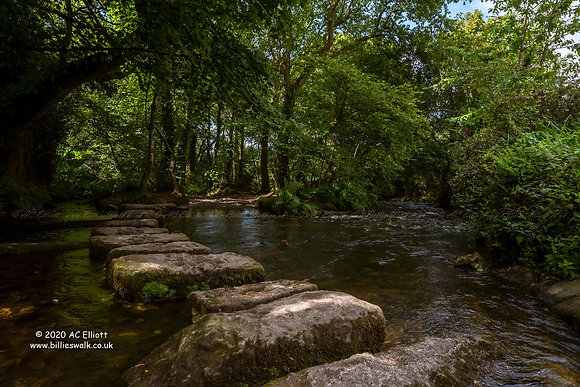 Cober Valley Stepping Stones Photograph and Fine Art Print