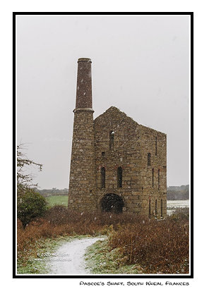 Pascoe's Pumping Engine House in the snow Greeting Card