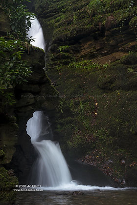 St Nectan's Glen Waterfall 1