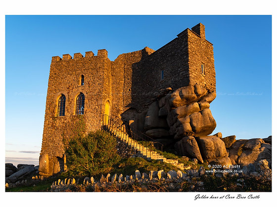 Golden hour at Carn Brea Castle