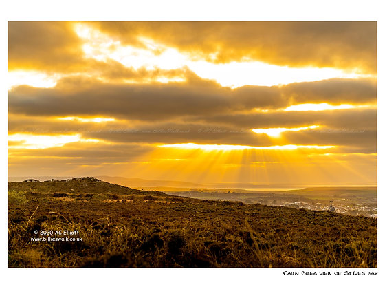 Carn Brea view of St Ives