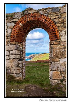 Pendeen Watch Lighthouse Greeting Card