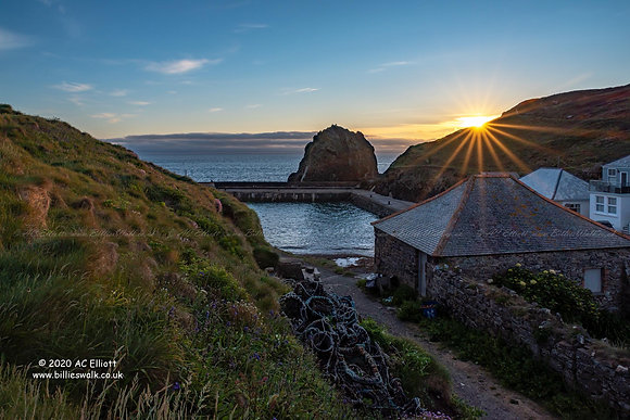 Mullion Harbour sunset