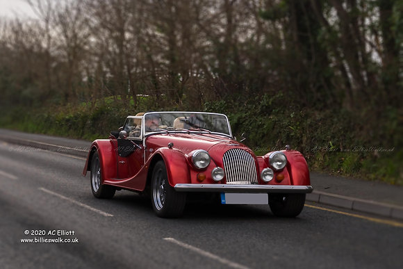 Red Morgan sports car photo and fine art print