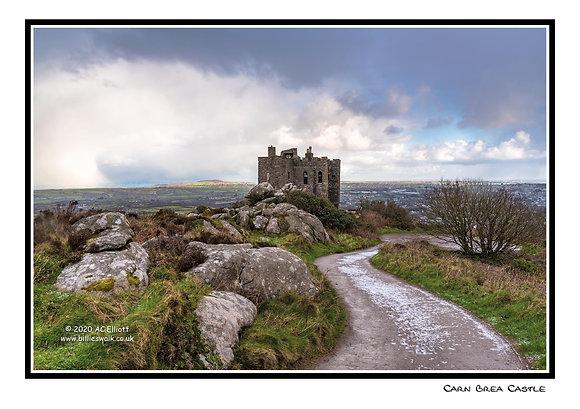 Carn Brea Castle frosty Greeting Card