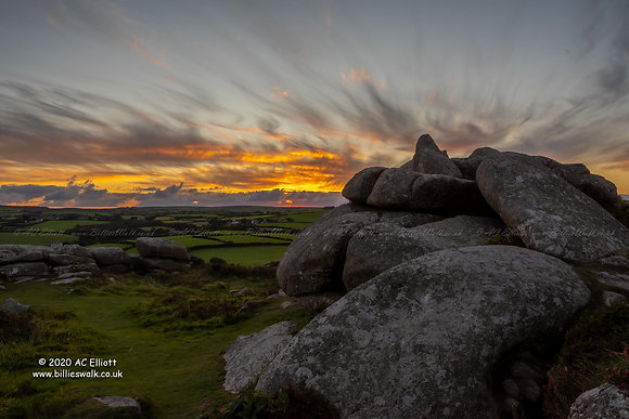 Trencrom Hill sunset