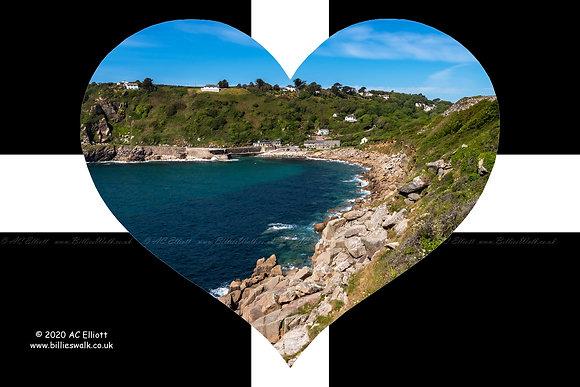 Lamorna Cove heart