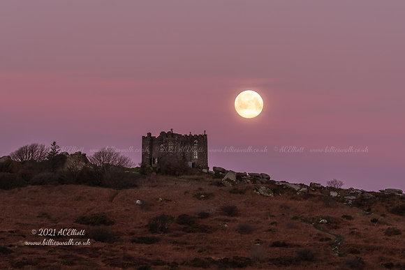 Carn Brea Castle & Snow Moon