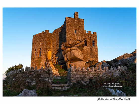 Golden hour at Carn Brea Castle 2