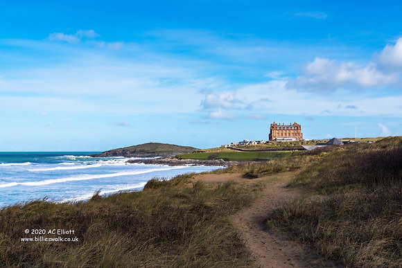 Towan Headland and the Headland Hotel