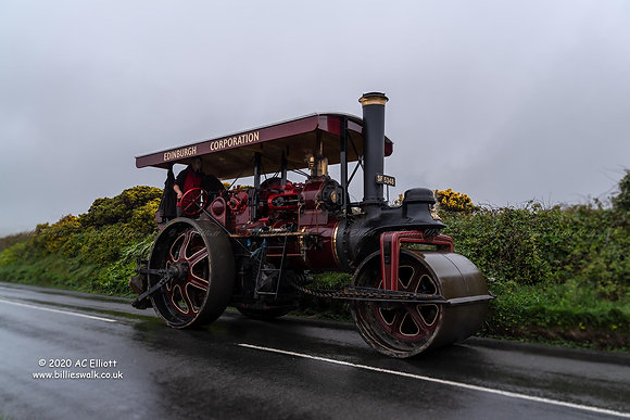 Steam Roller on the run after Trevithick's Day photo and fine art print