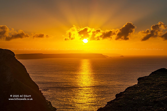 North Cornish Coast sunset