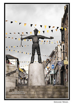 Redruth's Cornish Miner statue Greeting Card