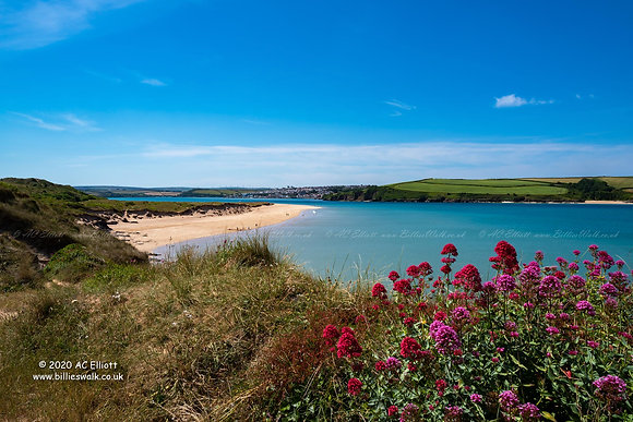 Brea Beach and the River Camel