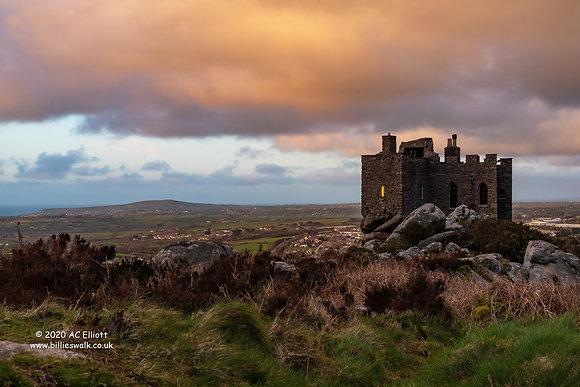 Carn Brea Castle Brooding sky