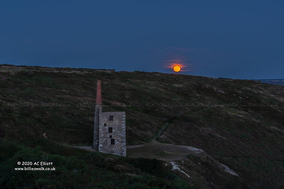 Wheal Prosper under Sturgeon Moon