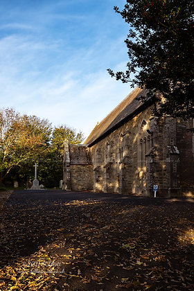 Autumnal St Illogan Parish Church photo and fine art print