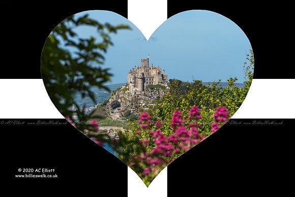 St Michael's Mount flower heart