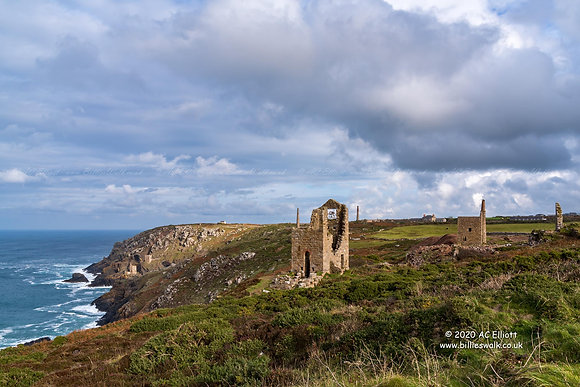 Botallack Mine & Crowns Engine Houses photo and fine art print