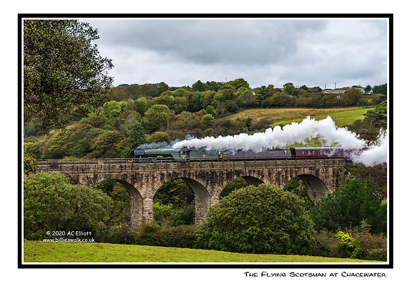 Flying Scotsman on Chacewater Viaduct Greeting Card