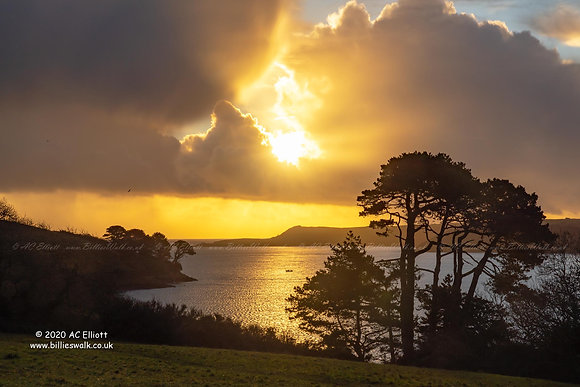Morning sun over Helford River photo and fine art print