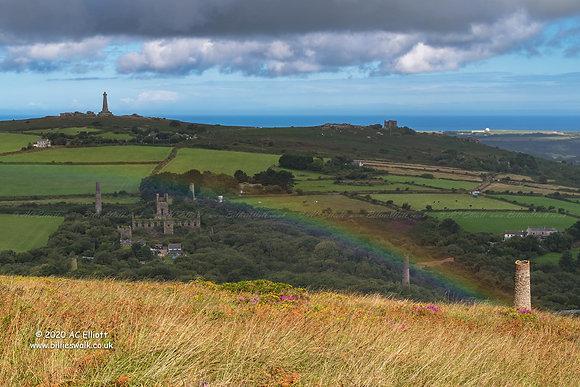 Carn Brea over the rainbow