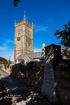Paul Parish Church, near Penzance photo and fine art print