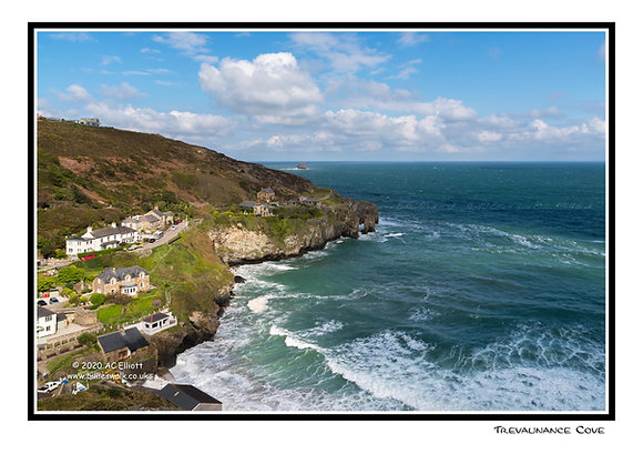 Trevaunance Cove Greeting Card