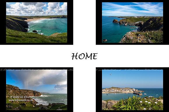 St Piran Flag 'Coastal' four images of Cornwall's Coast Fine Art Print