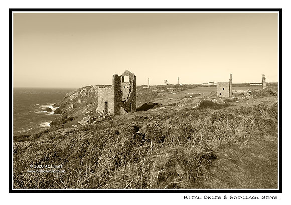 Wheal Owles and Botallack Mine Greeting Card