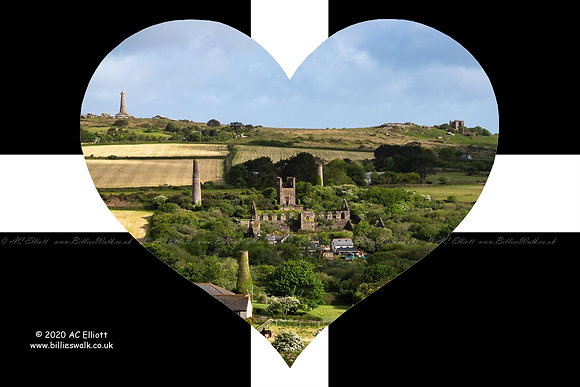 Carn Brea and West Basset heart