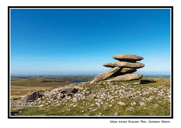 View from Rough Tor, Bodmin Moor Greeting Card