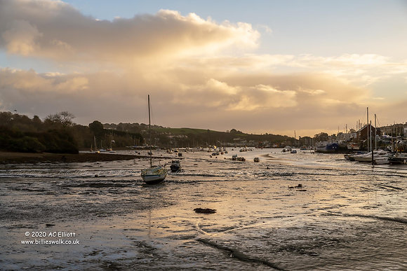 Soft light over the tidal Penryn River photo and fine art print