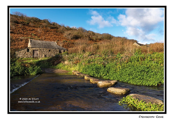 Penberth Cove stepping stones Greeting Card